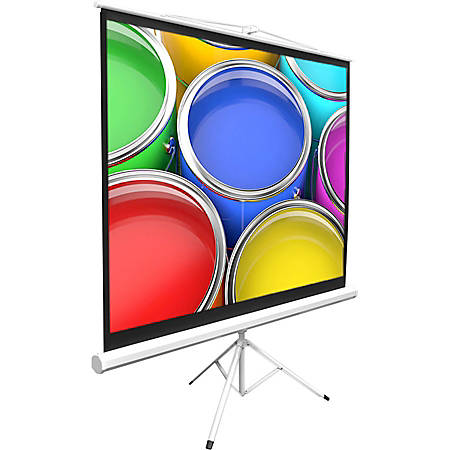 """PylePro PRJTP84 84"""" Manual Projection Screen - Yes - 4:3 - Matte White - 50"""" x 66.9"""" - Floor Mount"""