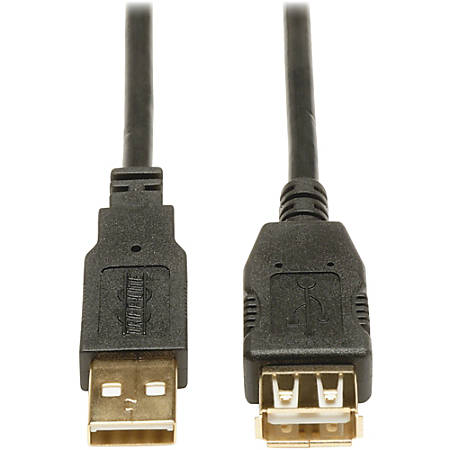 Siemens Tripp Lite U024-010 Gold USB 2.0 Extension Cable, 10', Black