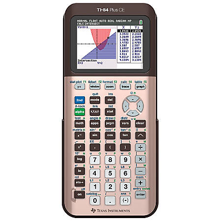 Texas Instruments® TI-84 Plus CE Color Graphing Calculator, Rose Gold