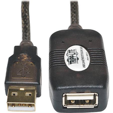 Tripp Lite 16ft USB 2.0 Extension Cable Active USB-A Male / USB-A Female