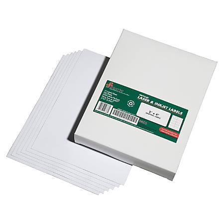 "SKILCRAFT® 100% Recycled Inkjet/Laser Address Labels, 2"" x 4"", White, Box Of 2500 (AbilityOne 7530-01-647-1413)"
