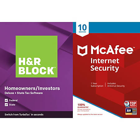 H&R Block 19 Deluxe + State Bundle (Win)