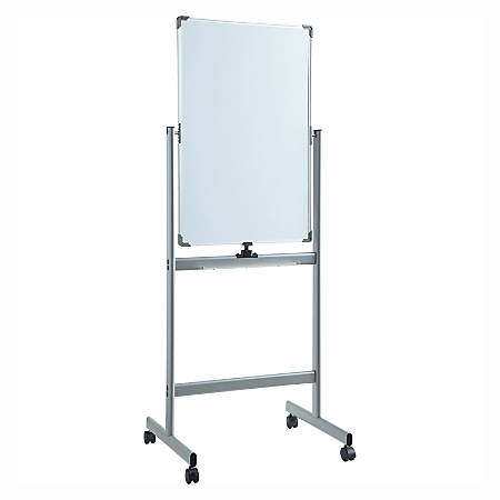 """Lorell™ Magnetic Dry-Erase Whiteboard Easel, 36"""" x 36"""", Metal Frame"""