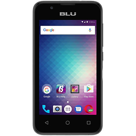 BLU Advance 4.0 L3 A110U Cell Phone, Gray, PBN201214