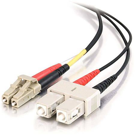 C2G-5m LC-SC 62.5/125 OM1 Duplex Multimode Fiber Optic Cable (Plenum-Rated) - Black