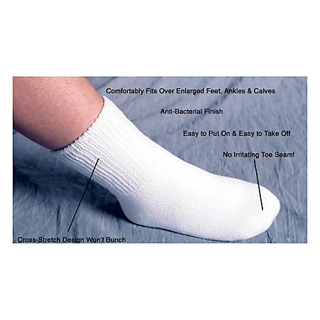Pedifix SeamLess™ Oversized Socks, Men Size 7-9/Women Size 8-10 1/2