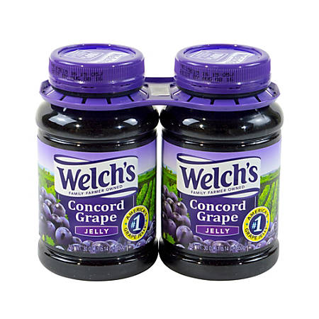 Welch's Concord Grape Jelly, 30 Oz Jar, Pack Of 2