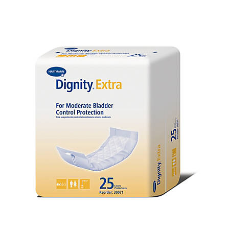 "Dignity® Extra Absorbent Pads, 4"" x 12"", Box Of 25"