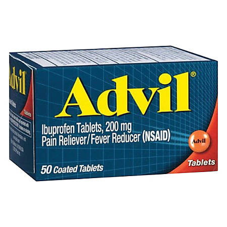 Advil® Pain Reliever/Fever Reducer Ibuprofen Tablets, Box Of 100