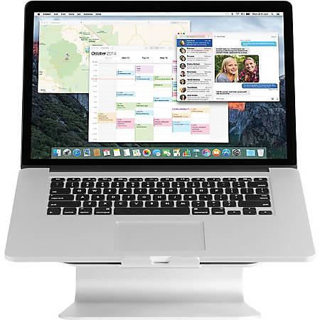 """Rain Design mStand360 - 6"""" Height x 10"""" Width x 7.5"""" Depth - Desktop - Aluminum - Silver"""