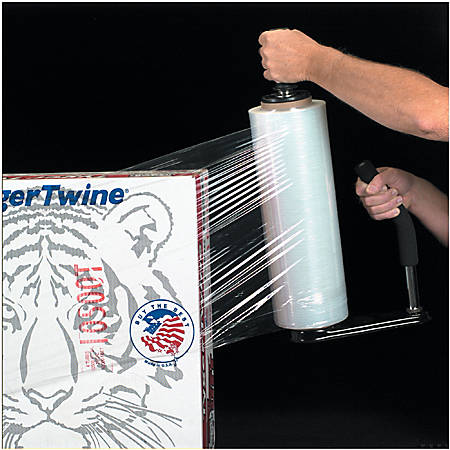"""Office Depot® Brand Blown Hand Stretch Film, 80 Gauge, 18"""" x 1500', Clear , Pack Of 4"""