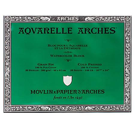 """Arches® Aquarelle Watercolor Block, 140 Lb, Cold Press, 18"""" x 24"""""""