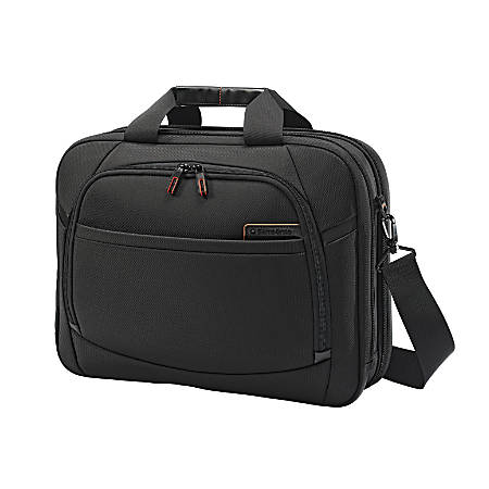 "Samsonite® Pro 4 DLX, Perfect Fit 2 Gusset Briefcase, 16 1/2""H x 12 3/4""W x 5""D, Black"