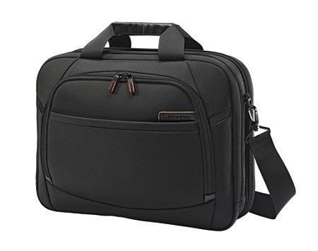 Samsonite Pro 4 DLX Perfect Fit 2 Gusset Briefcase 16 12 H X 34 W 5 D Black By Office Depot OfficeMax
