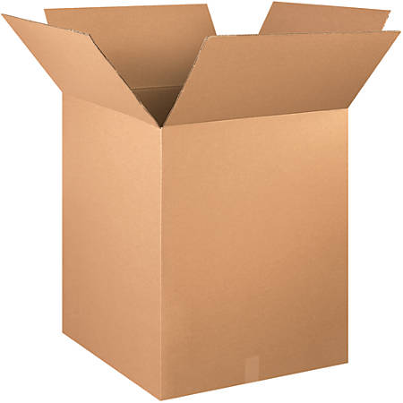 "Office Depot® Brand Corrugated Boxes, 28""H x 24""W x 24""D, 15% Recycled, Kraft, Bundle Of 10"