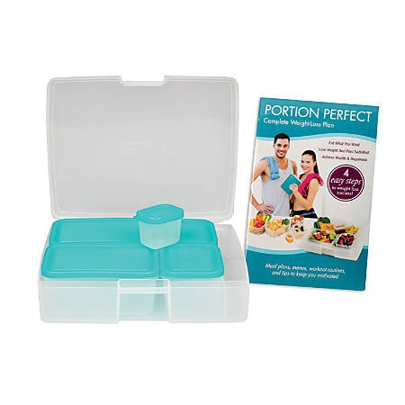 Bentology Portion Perfect 6-Piece Container Set With Book, Turquoise