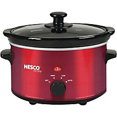 Brentwood 65 Qt Slow Cooker Red