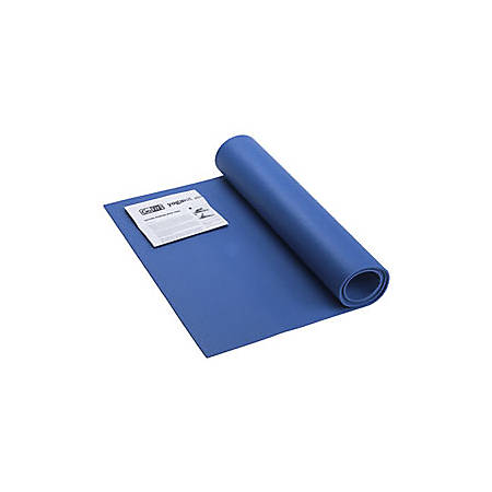 "GoFit® Double-Thick Yoga Mat With Yoga Posture Poster, 68""H x 24""W, Blue"