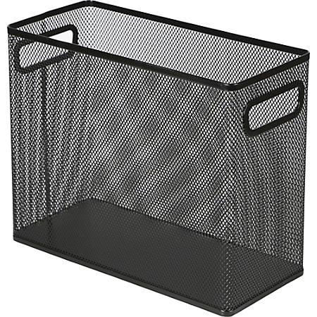 Lorell® Mesh Desktop Hanging File Folder, Letter-Size, Black