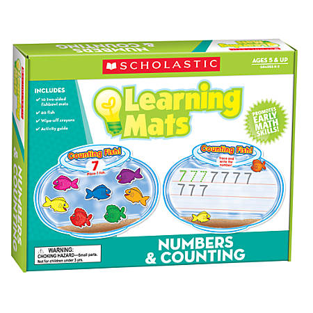 """Scholastic Teacher's Friend Learning Mat Kit, Numbers And Counting, 10"""" x 7 1/2"""", Grades K-2"""