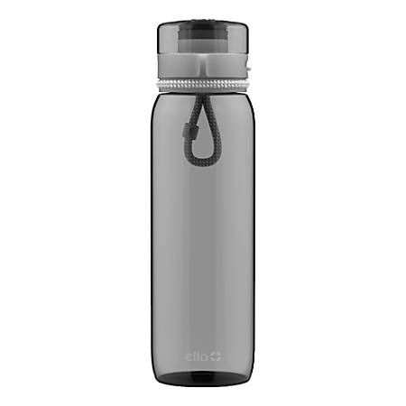 Ello Twister Water Bottle, 28 Oz, Gray