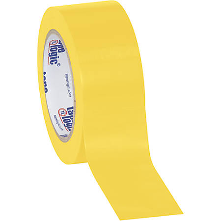 """BOX Packaging Solid Vinyl Safety Tape, 3"""" Core, 2"""" x 36 Yd., Yellow, Case Of 3"""