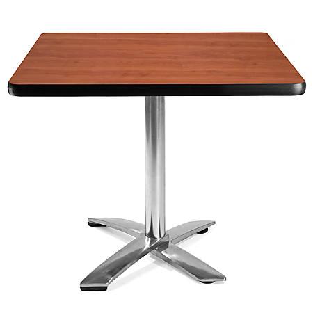 "OFM Multipurpose Folding Table, Square, 36""W x 36""D, Cherry"