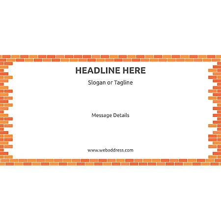 Custom Horizontal Banner, Bricks