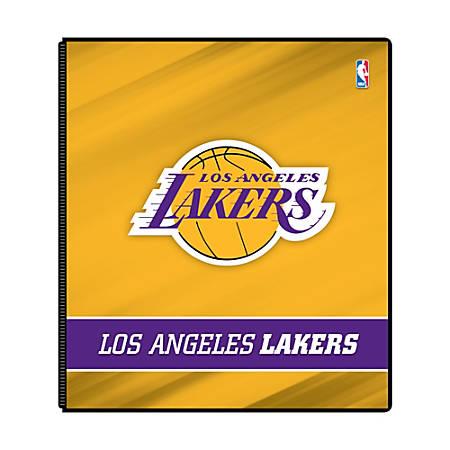 "Markings by C.R. Gibson® Round-Ring Binder, 1"" Rings, Los Angeles Lakers"