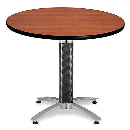 """OFM Multipurpose Table, Round, 36""""W x 36""""D, Cherry"""
