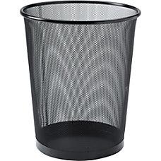 Lorell Mesh Waste Bin Round Black