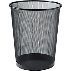 Lorell Black Steel Mesh Round Waste