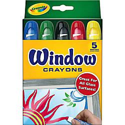 Crayola Washable Window Crayons Assorted Colors