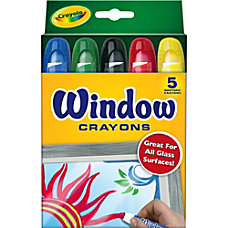 Crayola Washable Window Crayons Assorted Colors