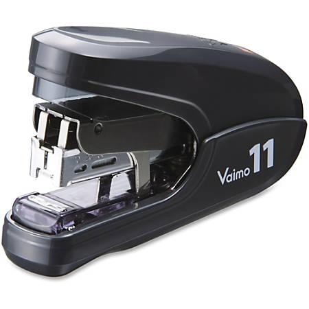 "MAX Vaimo 11 Compact Stapler - 35 Sheets Capacity - 100 Staple Capacity - 3/8"" Staple Size - Black"