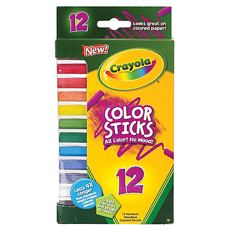 Crayola® Color Sticks, Pack Of 12, Assorted Colors