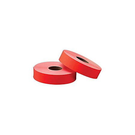 Office Depot® Brand General Purpose Adhesive Pricemarking Labels, Flourescent Red, 1750 Labels/Roll, Pack Of 2