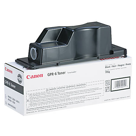Canon GPR-6 Black Copier Toner Cartridge (6647A003AA)