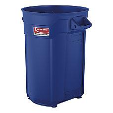 Suncast Commercial Round Resin Utility Trash