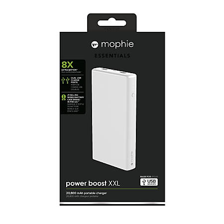 online store b81ae e5af0 mophie Boost Powerbank, XXL, 20,800 mAh, White, 4062 Item # 609476