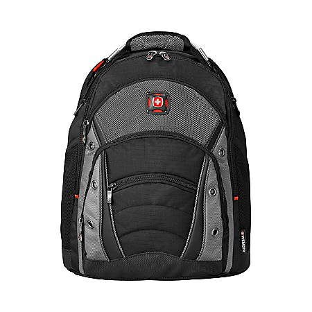 Wenger® Synergy Laptop Backpack, Black/Gray Item # 609590
