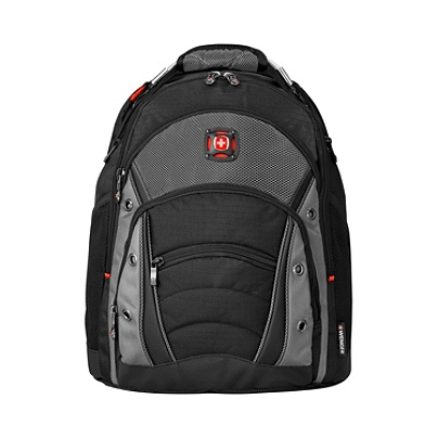 68fb1cbd643a Wenger Synergy Laptop Backpack BlackGray - Office Depot