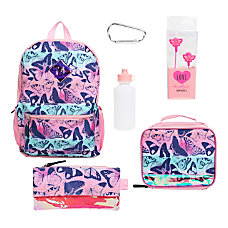 Love2Design Holographic Butterfly 6 Piece Backpack