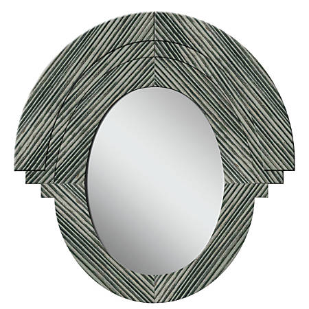 """PTM Images Framed Mirror, Western II, 32 3/4""""H x 31 1/2""""W, Stone Gray"""