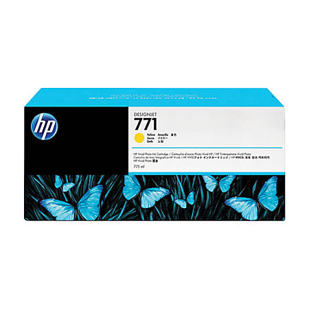 HP 771, High-Yield Yellow Ink Cartridge (CE040A)