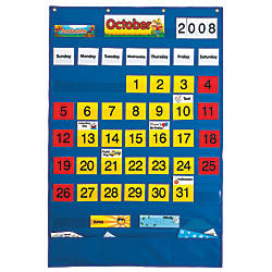 Playmonster Calendar Pocket Chart 25 12