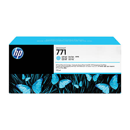 HP 771, High-Yield Light Cyan Ink Cartridge (CE042A)