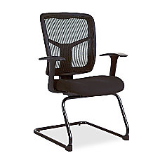 Lorell Ergonomic Mesh Guest Chair Black