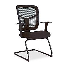 Lorell Ergonomic Mesh Guest Chair Black