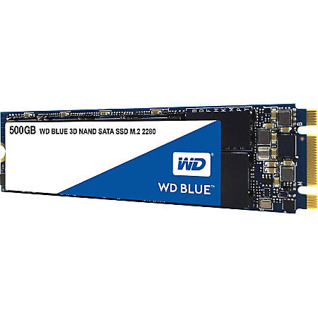 WD Blue 3D NAND 500GB PC SSD - SATA III 6 Gb/s M.2 2280 Solid State Drive - 560 MB/s Maximum Read Transfer Rate - 5 Year Warranty